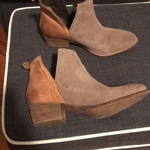 Diba True Leather Suede Booties